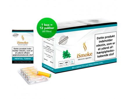 iSmoke Premium E-Cigaret Filter Mentol Tobak