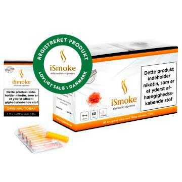 iSmoke® Premium E-Cigaret Filter Original Tobak Sikkerhedsstyrelsen