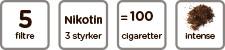 Intens Tobak 5 filtre ikon